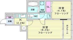 kujira-so 1階1LDKの間取り