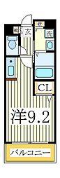 クリスタルM[1階]の間取り