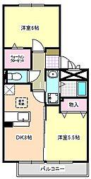 フローラルパークス[2階]の間取り