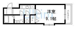 京都府京都市伏見区今町の賃貸マンションの間取り