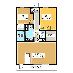 Casa Forte[2階]の間取り