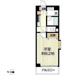 フォンターナ生田[2階]の間取り