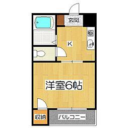 クインズコート[1階]の間取り