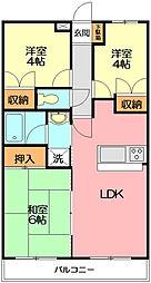 チェリーマンション[303号室]の間取り