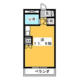 ラポール横割[3階]の間取り