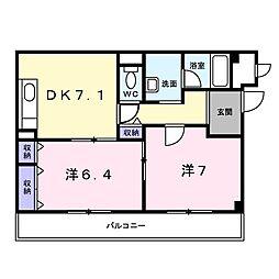 アンジュメゾン[3階]の間取り