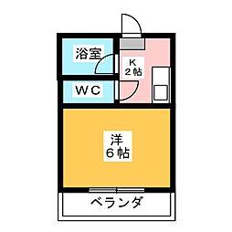 静岡県静岡市駿河区小鹿2丁目の賃貸マンションの間取り