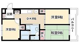 愛知県名古屋市名東区平和が丘1丁目の賃貸マンションの間取り