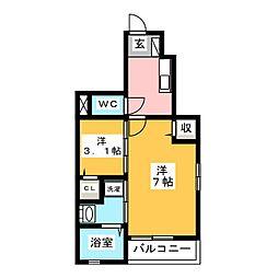 ゴールドリング池田 I[1階]の間取り