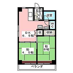 亀兵ビル[8階]の間取り