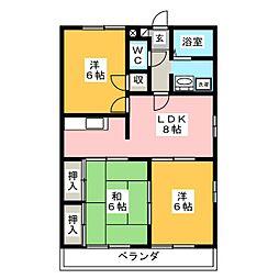ハミング諏訪 B棟[1階]の間取り