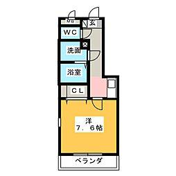 エクセラン須ヶ口[1階]の間取り