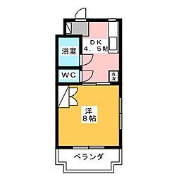 マンションモンマルトル[3階]の間取り