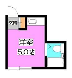 大森ハウス[3階]の間取り