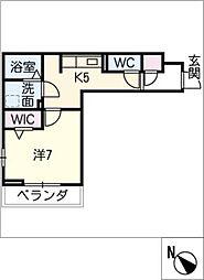 D‐roomビーチルック 3階1SKの間取り