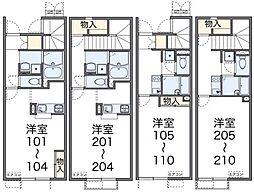 ネクストYAMAZAKI[203号室]の間取り