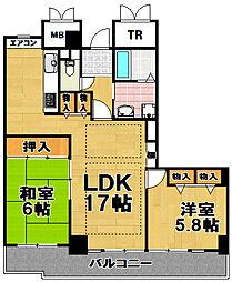 酉島リバーサイドヒルなぎさ街20号棟[22階]の間取り