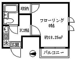 ムーラン北新宿[401号室]の間取り