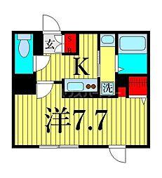 東京メトロ日比谷線 三ノ輪駅 徒歩9分の賃貸マンション 4階1Kの間取り