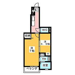 アヴニール・M[1階]の間取り