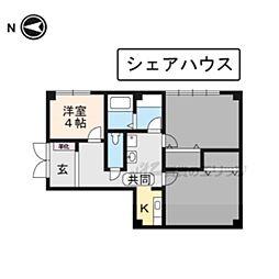 カルチャーハウス(シェアハウス) 1階ワンルームの間取り