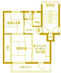 東本郷第1[4階]の間取り