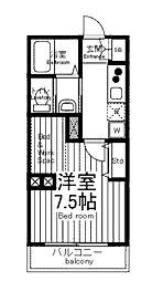 JR横浜線 淵野辺駅 徒歩7分の賃貸マンション 1階1Kの間取り