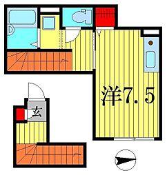(仮)D-room高砂3丁目[2階]の間取り