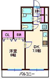 ピュアシティ東神奈川[502号室]の間取り