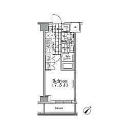 東京メトロ有楽町線 月島駅 徒歩4分の賃貸マンション 5階1Kの間取り