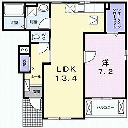 カーズA[1階]の間取り