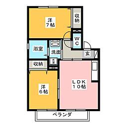 ル・セール[2階]の間取り