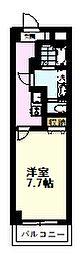 ネルメッツォ国分寺 4階1Kの間取り