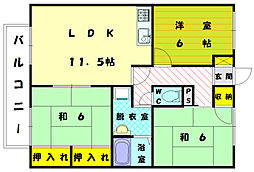 セジュールメロディー1[2階]の間取り