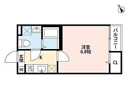 Heim-YASURAGI(ハイムーヤスラギ)[2階]の間取り