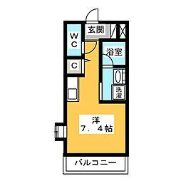 マ メゾン本宮[2階]の間取り