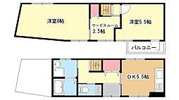 [一戸建] 大阪府豊中市螢池南町3丁目 の賃貸【/】の間取り