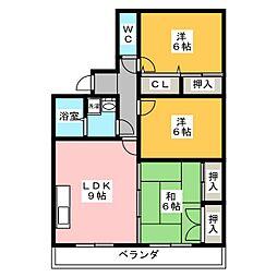 ディアコート[3階]の間取り