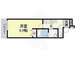 Osaka Metro今里筋線 関目成育駅 徒歩7分の賃貸アパート 1階1Kの間取り