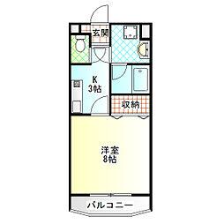 武田デンタルビル[203号室]の間取り