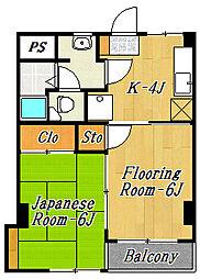 第1田中マンション[3階]の間取り