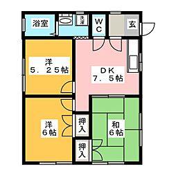 [一戸建] 三重県伊勢市下野町 の賃貸【/】の間取り