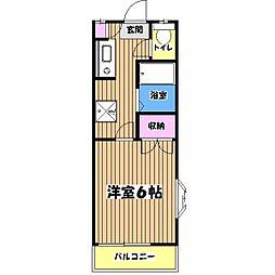 コットンポエム[1階]の間取り