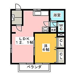 ソレイユ横須賀[1階]の間取り