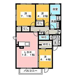 仮)D-Room上西郷[1階]の間取り