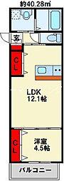 SHIZUKA BLDG 1階1LDKの間取り