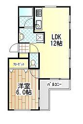 K・Iマンション[202号室]の間取り