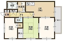 クラージュ土師A棟[2階]の間取り