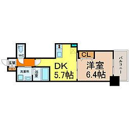 エステムプラザ名古屋駅前プライムタワー[2階]の間取り