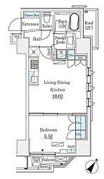 都営新宿線 岩本町駅 徒歩6分の賃貸マンション 3階1LDKの間取り